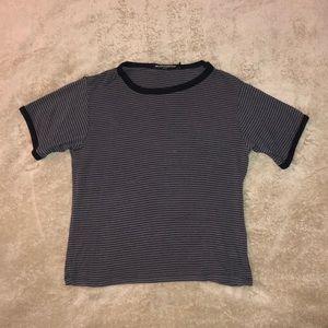 RARE Brandy Melville Stripped T-Shirt 🌒